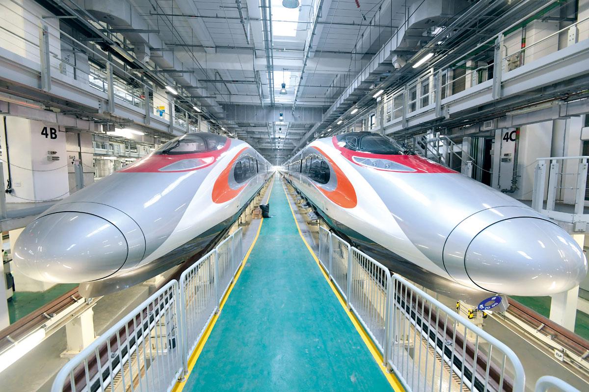 廣深港高鐵香港段開通後,預計往來香港與廣州南只需48分鐘。