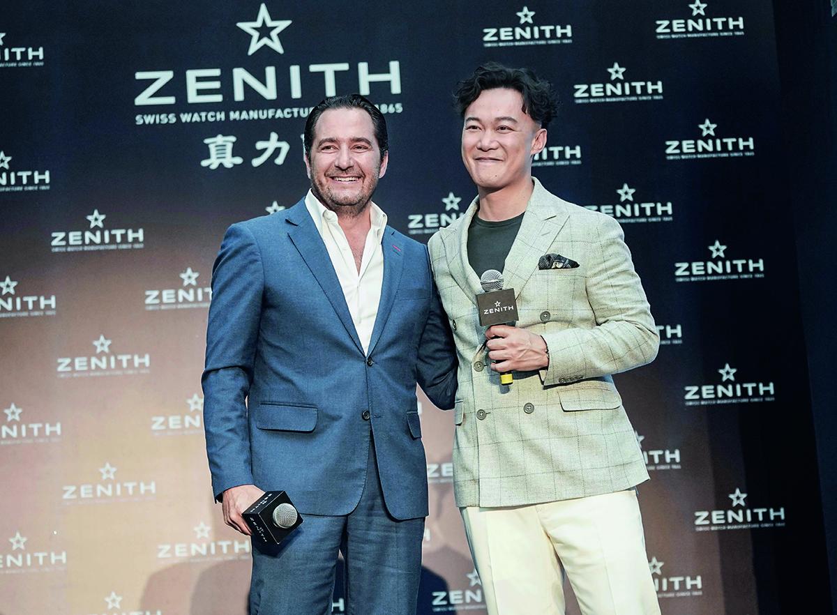 早前陳奕迅首次以Zenith品牌代言人身份於中國天津出席活動,Julien Tornare親自招待。