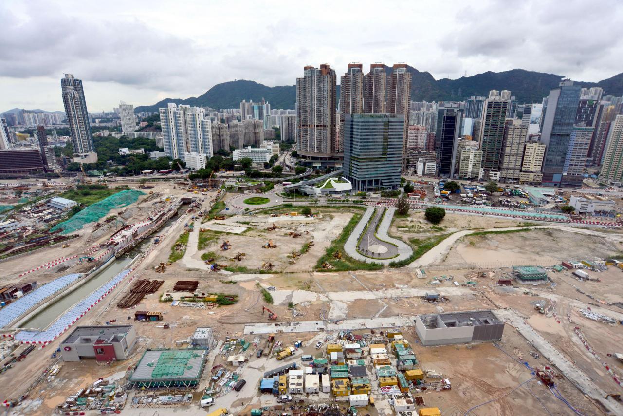 新鴻基地產以二百五十一億六千一百萬元投得啟德第1F區一號地盤,打造一代地王。