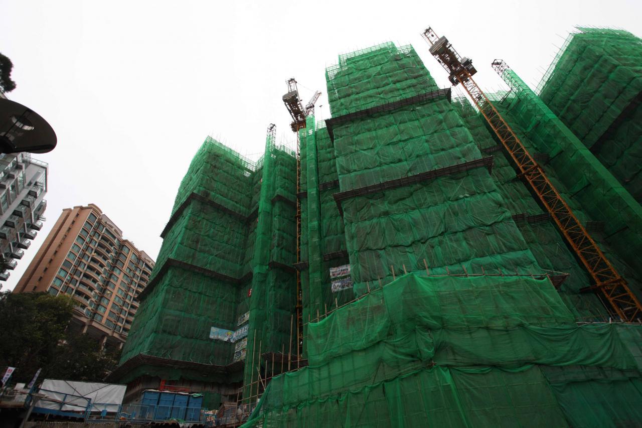 新樓落成量已逐漸回復平穩的水平。