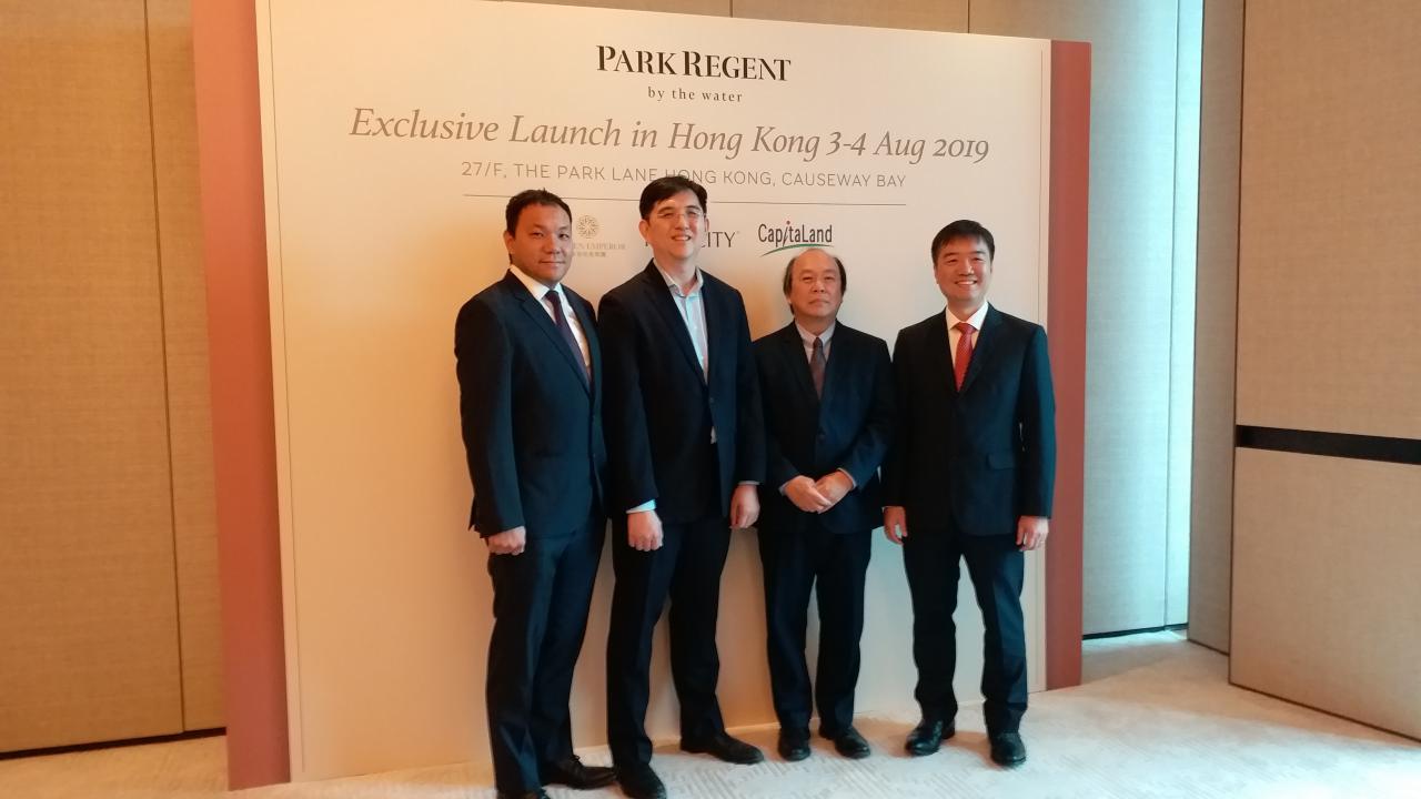 (右起): 帝皇地產董事總經理陳卓明,凱德集團馬來西亞執行董事Patrick Liau,Perdana ParkCity Sdn Bhd首席市場營運總監KC Chong,亞洲銀行家俱樂部創辦人及首席執行官賴遠方。