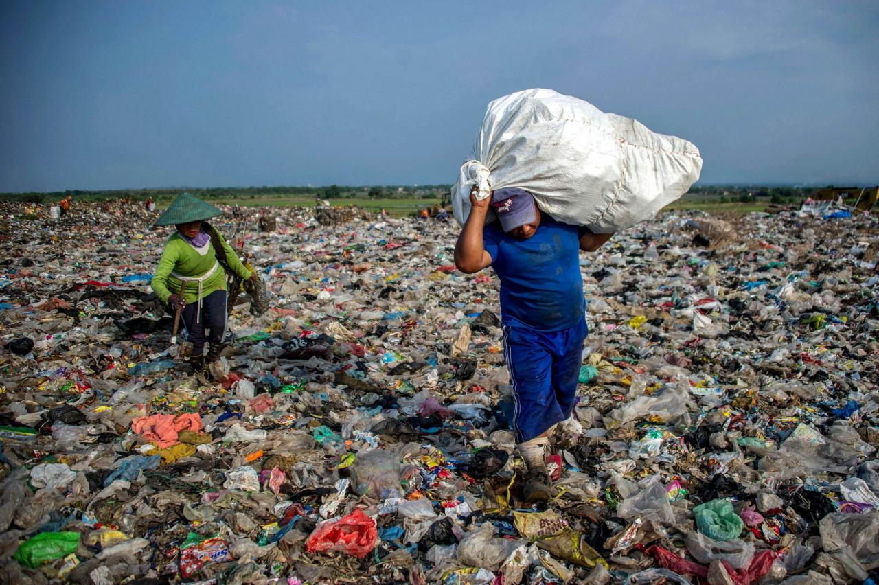 越南的廢物處理系統不完善,旅客大增加劇了當地的環境污染。