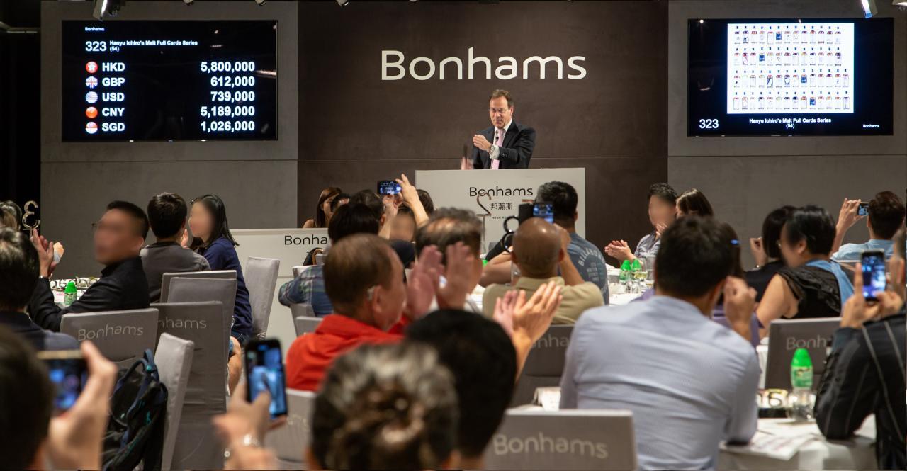 「羽生伊知郎全副撲克牌系列」剛於香港邦瀚斯「稀有葡萄酒及威士忌」拍賣會以7,192,000港元成交,刷新紀錄。