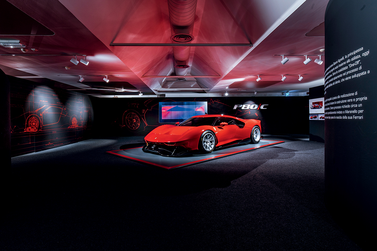 Ferrari P80/C 是基於法拉利488 GT3 而製作,不設頭燈的設計配上特大尾翼,完全專為賽道而設。