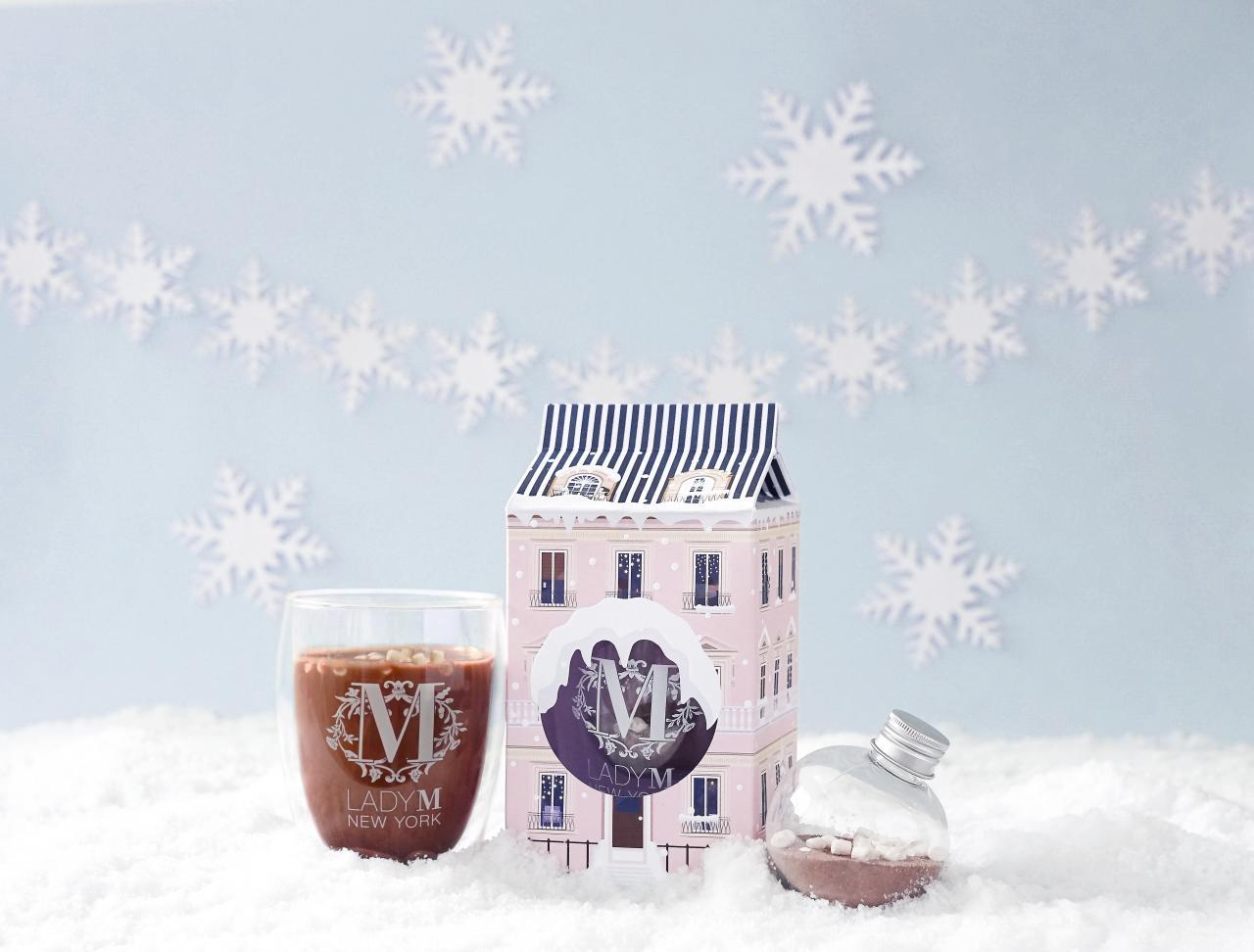 聖誕限定版朱古力熱飲杯套裝:「Lady M棉花糖朱古力套裝」($188)