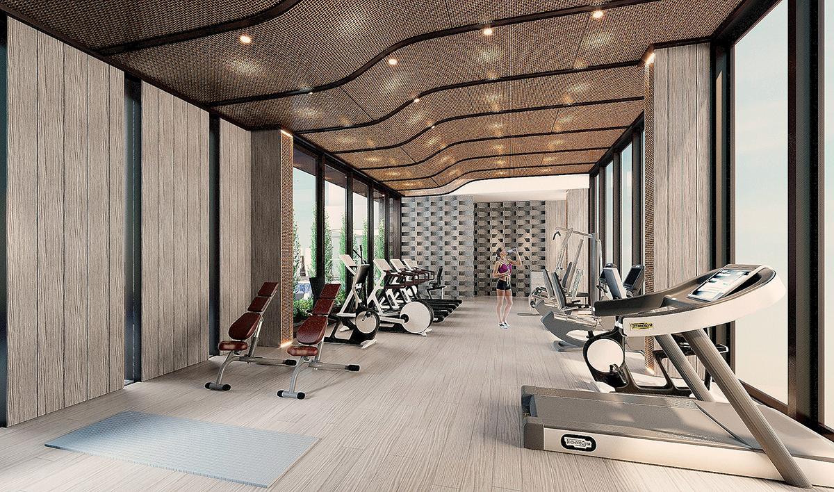 比較很多酒店,這裡的健身室面積算是寬敞了。