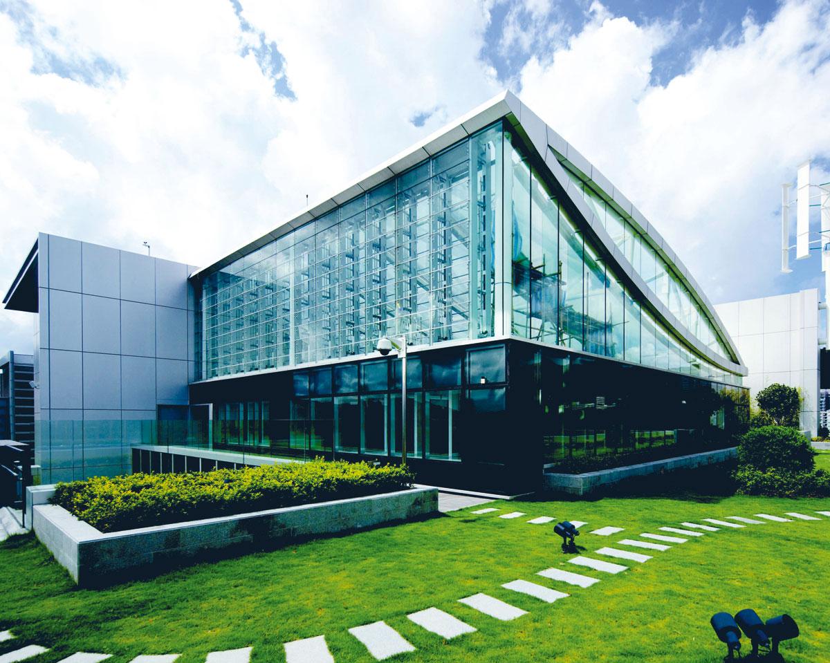 香港科學園的綠景樓,是具高度營運效益的模範建築。