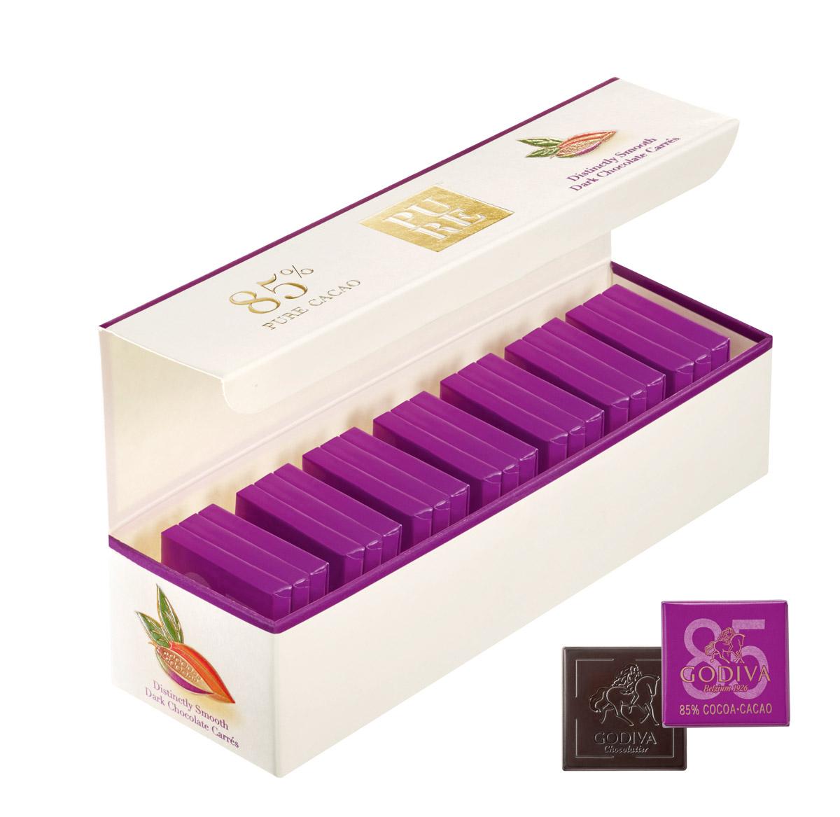 片裝濃醇85%黑巧克力禮盒21片裝。