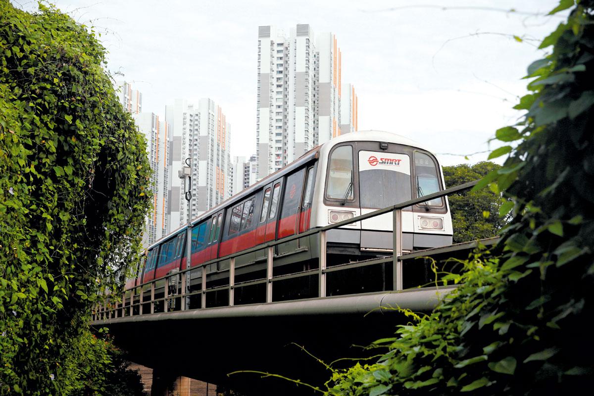 新加坡地鐵列車。
