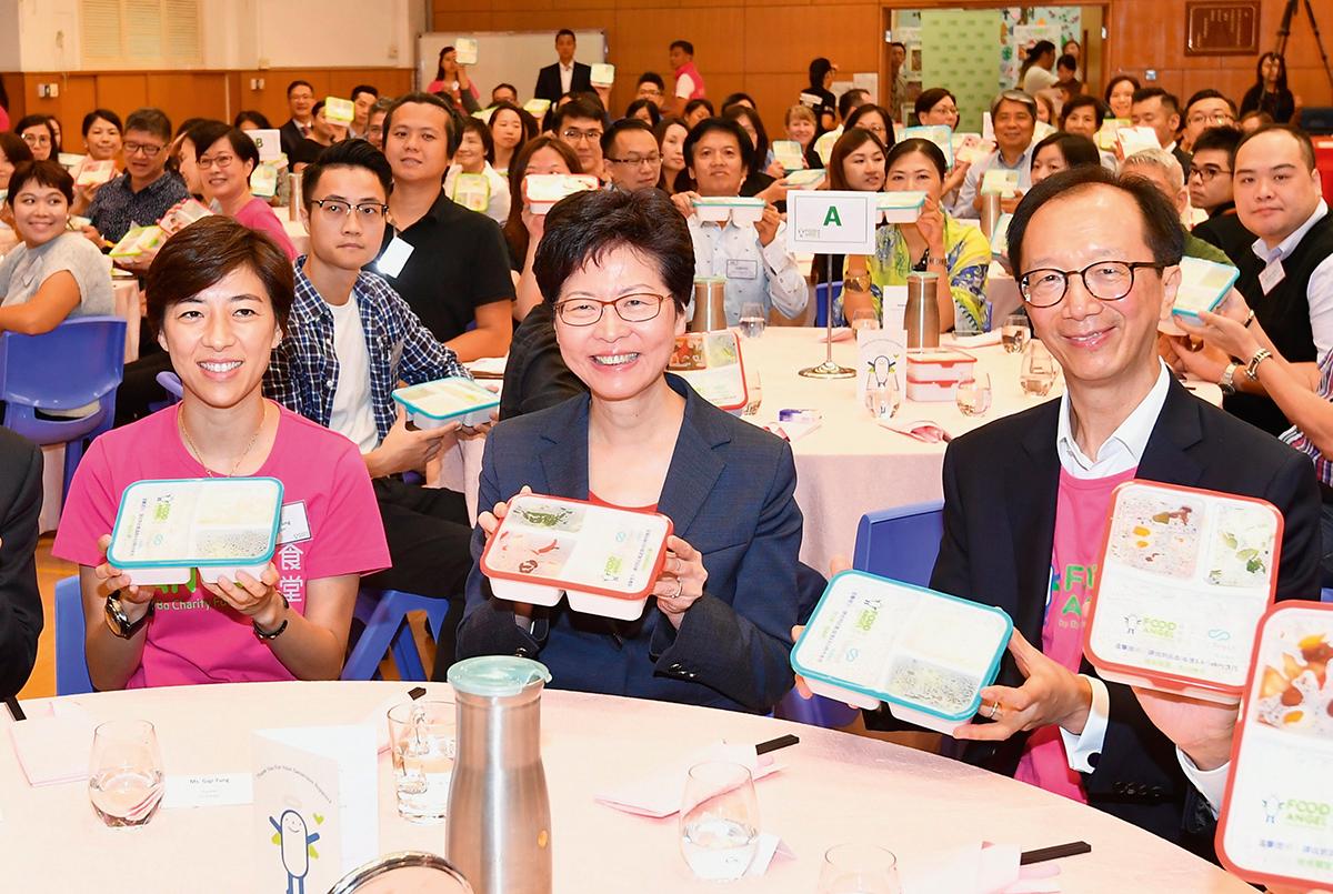 董愛麗呼籲除大型企業外,期望更多中小企能參與剩食材的回收。