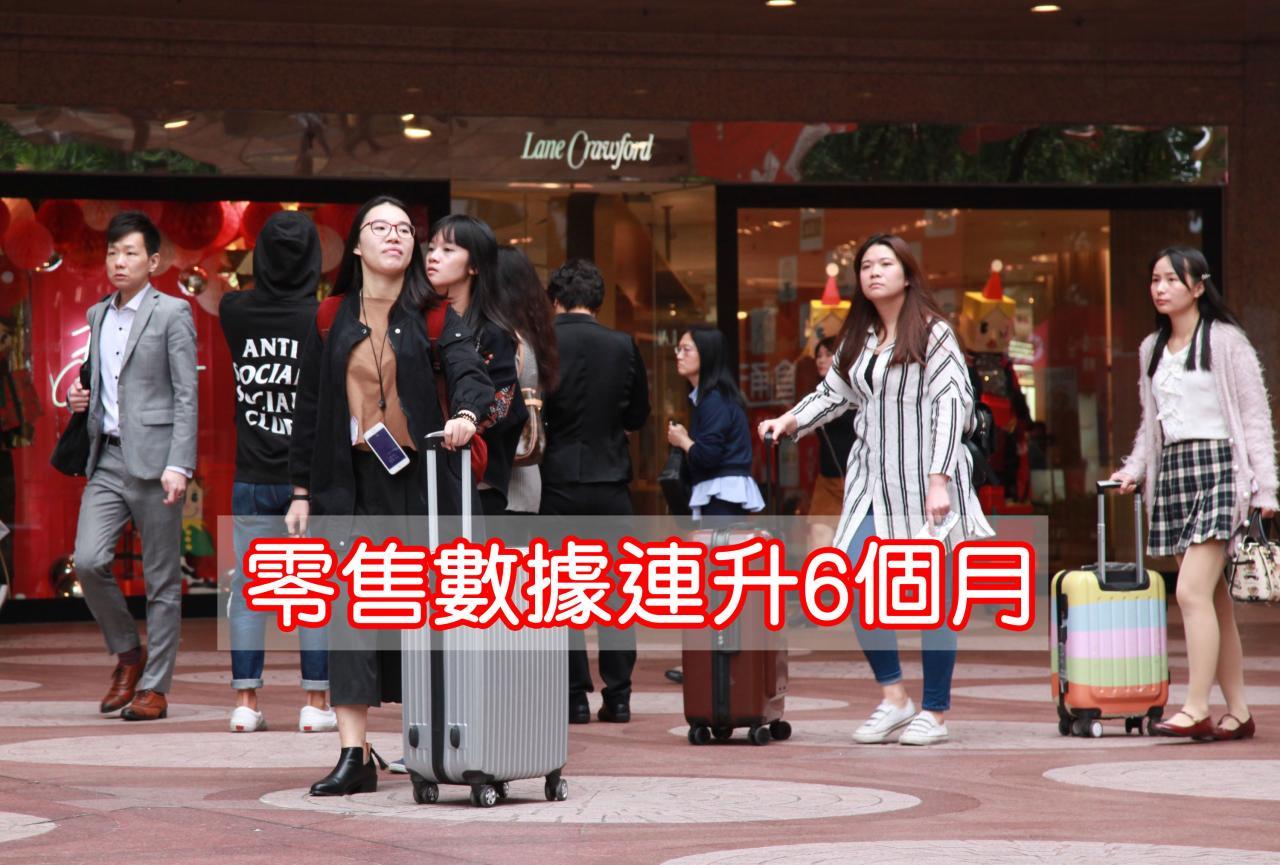 本港零售業今年首季開始步出谷底,零售數據自三月起連升六個月。