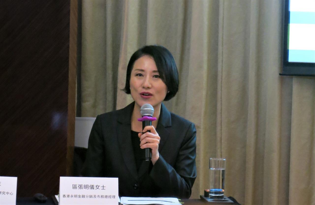 香港永明金融有限公司分銷及市務總經理區張明儀相信,自願醫保計劃的推出,將有助港人為自己的醫療保障做準備。