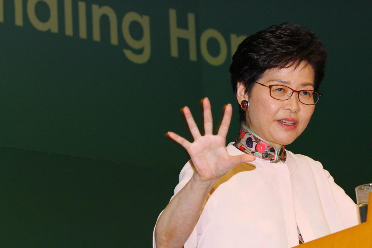 市民對林鄭的施政報告滿意度僅僅合格。