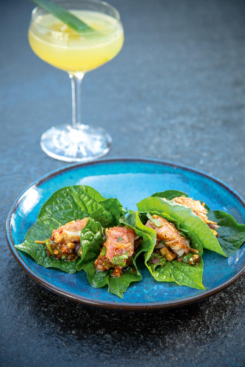 「追逐味道」是泰國人的傳統烹調精神, 由鮮味食材配搭多元化的泰式香料,造就一道道簡單而不平凡的美饌。圖為上季特選菜單中的菜式。