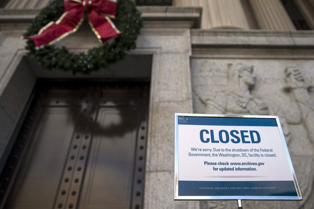 特朗普一手造成聯邦政府停擺,令美國經濟損失過百億美元。