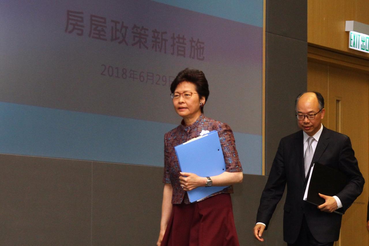 特首林鄭娥上月底推出新房屋政策,包括將以市價五二折發售新居屋。