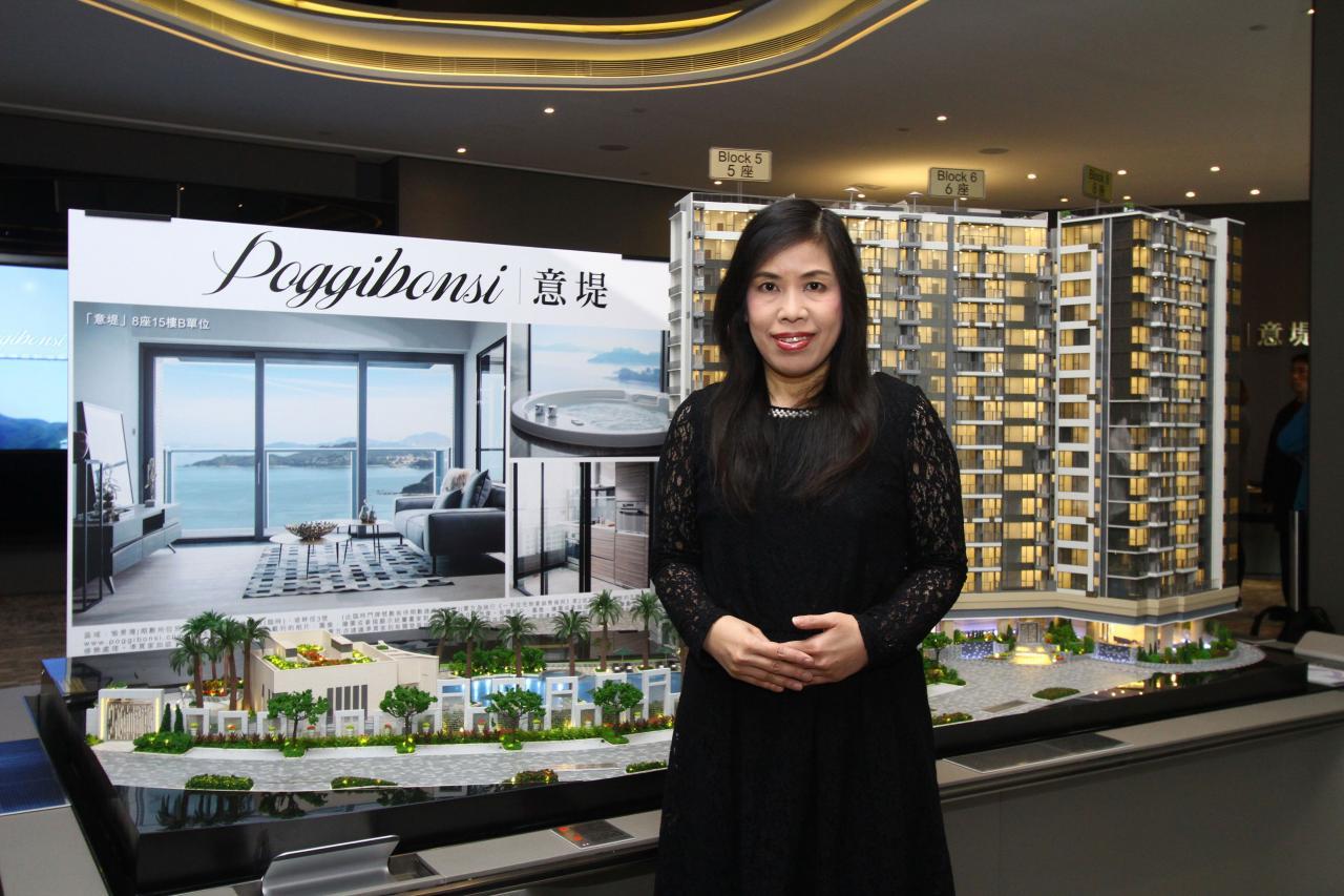 香港興業集團銷售及市務助理總經理陳秀珍表示,項目提供愉景灣近30年來首見的開放式單位。