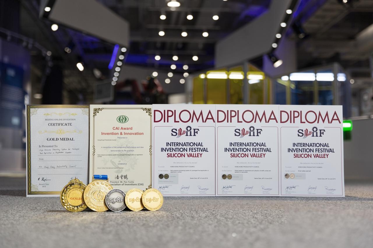 生產力局的3項發明首次參加美國矽谷國際發明展,榮獲5項大獎。