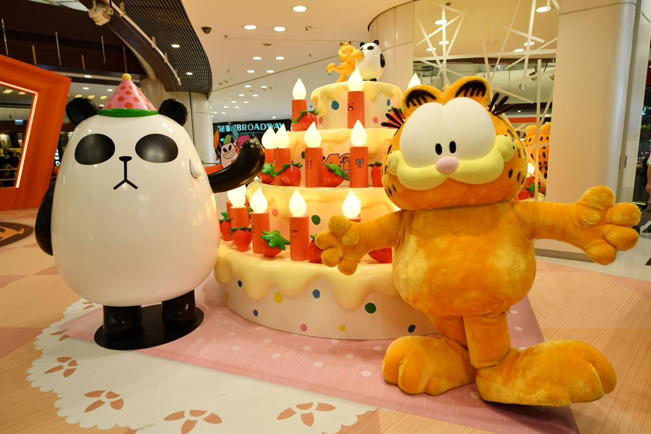 聾貓有火:點亮加菲貓閃閃燭光蛋糕