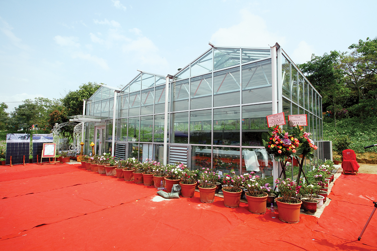 生態園現建有兩個環保溫室。