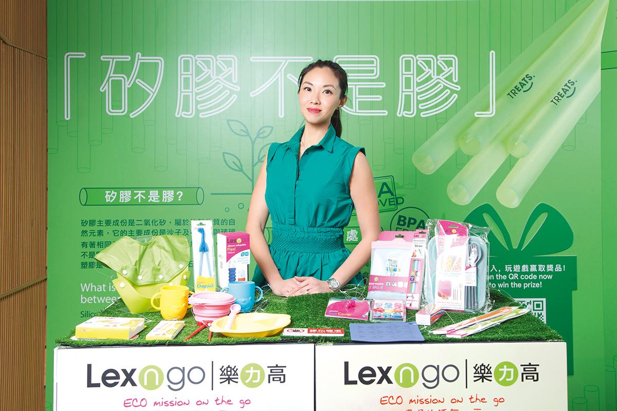 王詠儀表示,該公司期望推自家研發矽膠飲管,推動綠色生活。