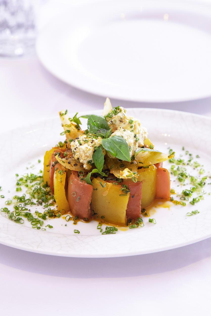 Ratatouille et Feta:大廚以橄欖油醃製甜椒、洋蔥、茄子,並搭配頂級希臘羊奶芝士,充滿地中海風味。