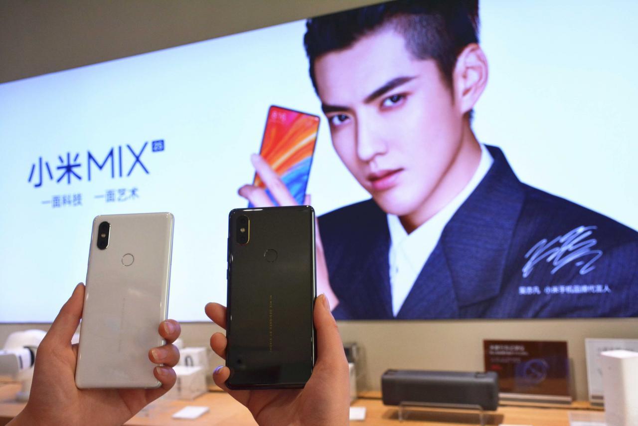 小米在二○一六年起,在中國手機市場中的市佔率有所下降。