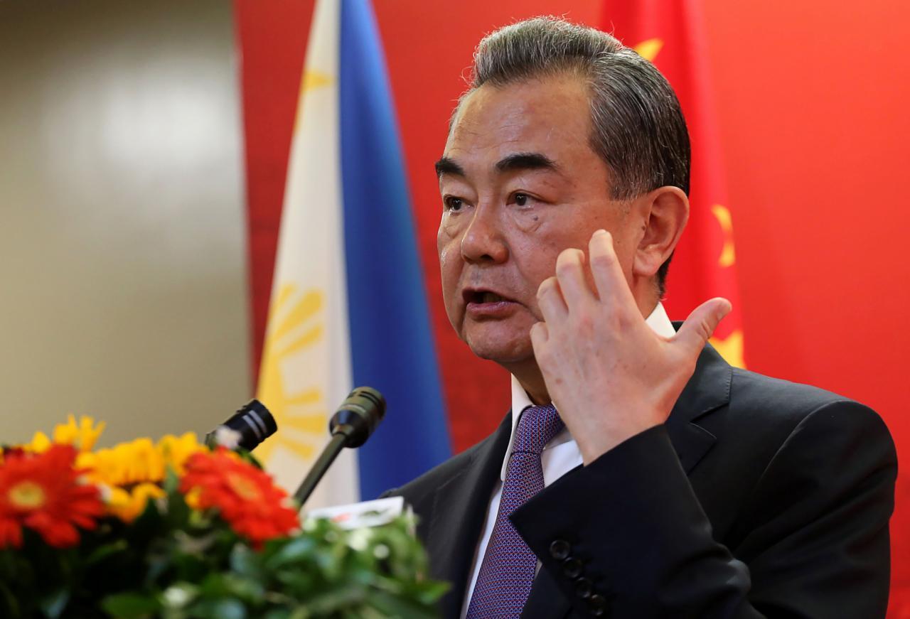 中國外交部王毅籲盡快制訂南海准則,嚴防區外勢力干預。