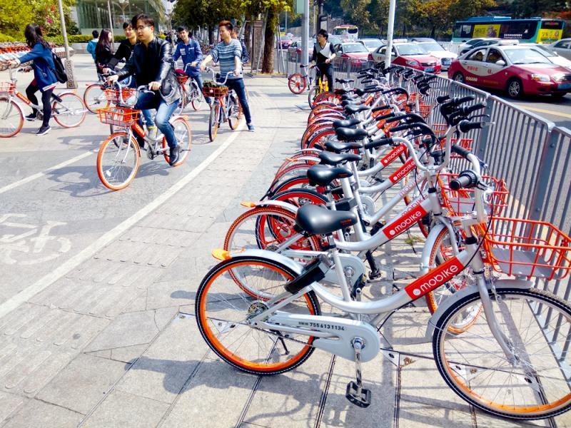 共享單車在內地掀起熱潮