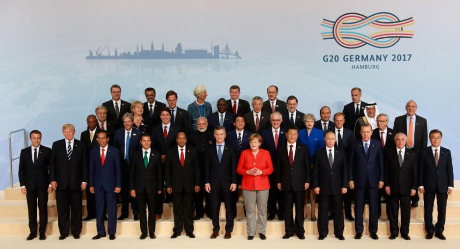 G20會議落幕,特朗普(前排左二)亦開始其「孤立」之路。