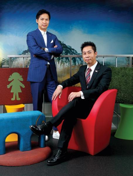 (左起)萬通集團國際有限公司行政總裁廖錦興 (Bobby)、董事總經理廖錦新(Sunny)。