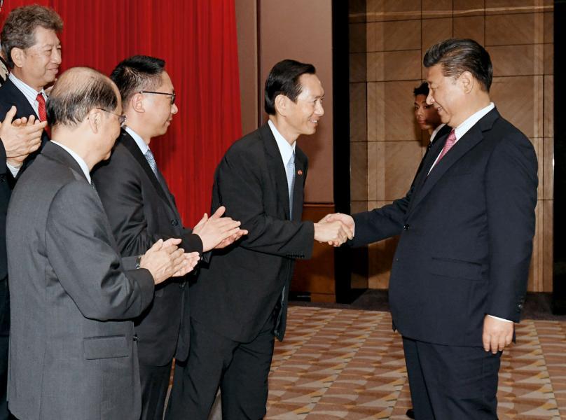 新一屆特區政府獲國家主席習近平接見。