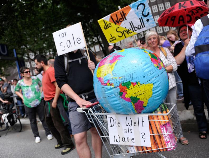 德國漢堡舉行的G20峰會,引發一連串的大型示威。