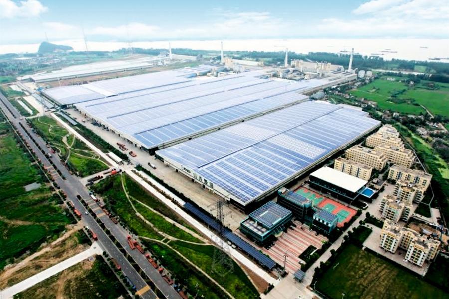 信義光能於馬來西亞第一條900噸光伏玻璃生產線,已於去年11月投產。
