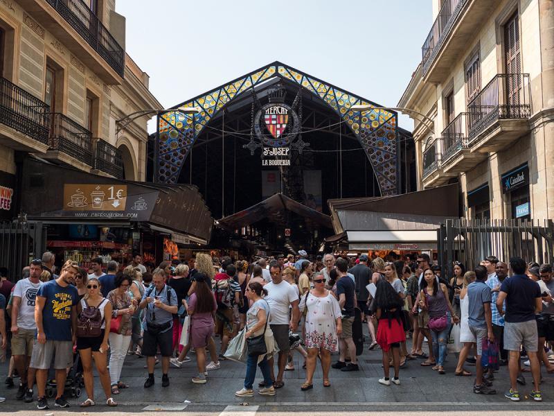 La Boqueria是巴塞羅那市內著名的街市,吸引不少遊客來觀光找吃。