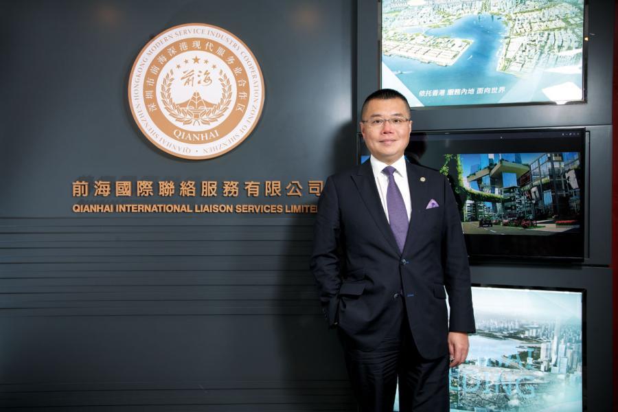 前海管理局香港事務首席聯絡官洪為民。