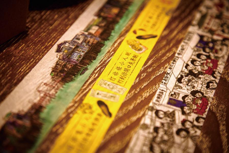品牌以本土氣息濃厚的元素為題材,設計出各式紙膠帶產品。
