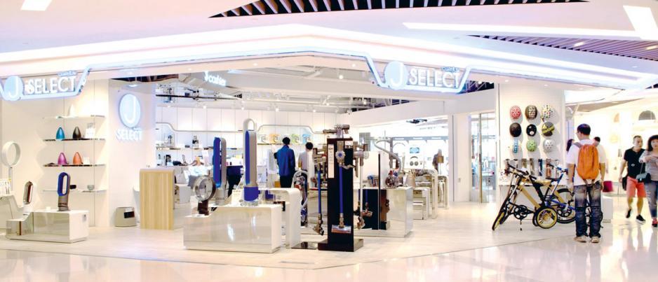 香港現有5家J SELECT實體店。