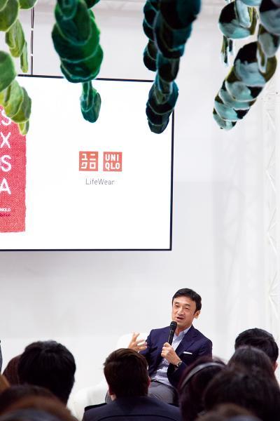 迅銷集團高級副總裁兼UNIQLO全球研發中心總監勝田幸宏認為「物料及技術的應用」有助集團推動可持續性。