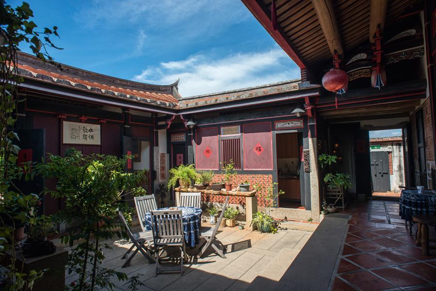 這是水調歌頭的庭院,可在這裡享受金門的風和日麗。