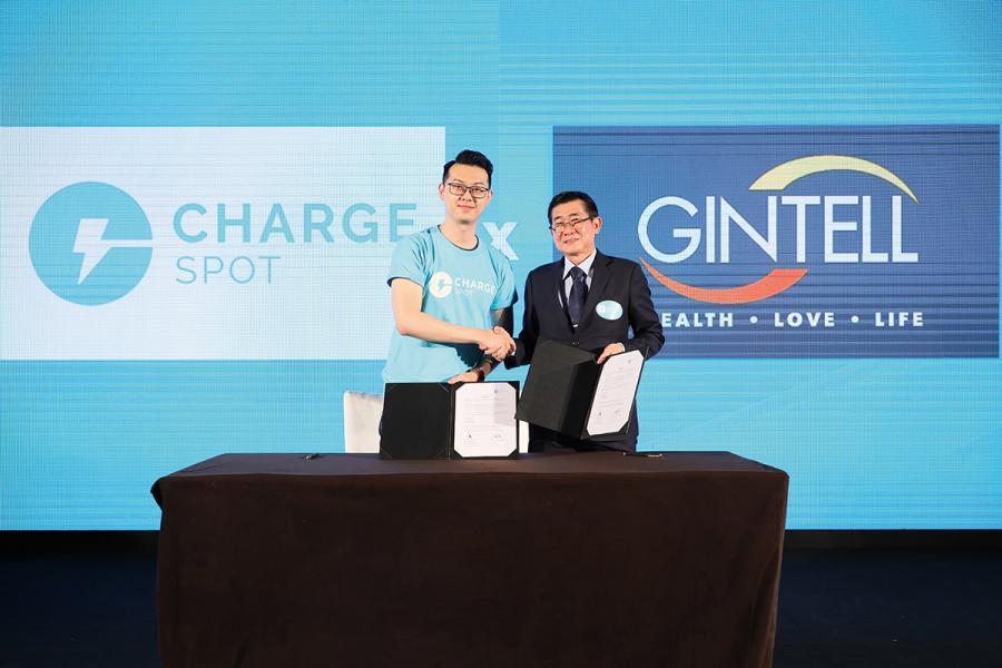ChargeSpot與馬來西亞的Gintell以合資企業形式合作,圖為去年簽約發佈會的場面。馬來西亞是繼日本及泰國後打進的第三個海外市場。
