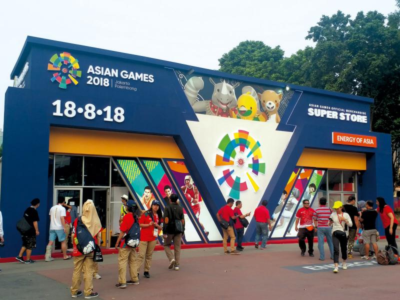 亞運主辦國印尼也環繞吉祥物推出多種周邊產品。