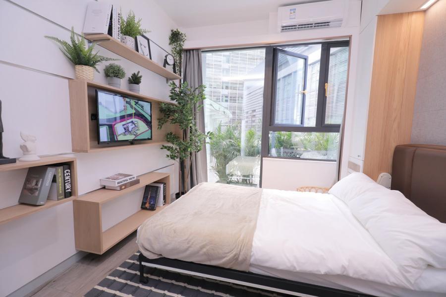 「 創新斗室」面積由248方呎起,提供單人、雙 人、共居及套房類別。