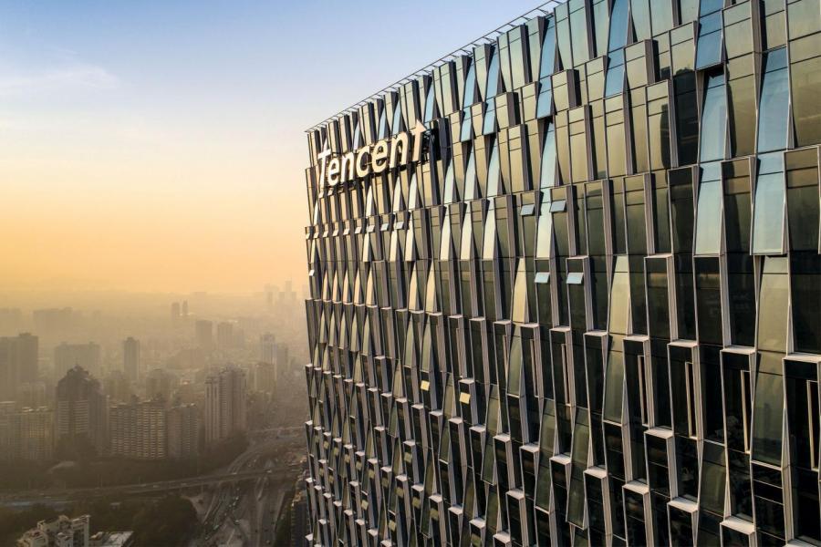 騰訊新總部位於深圳南山區科技園,去年底正式啟用。