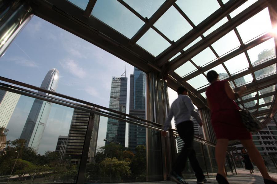 中資企業近兩年成為中環甲廈活躍租戶,刺激中環租金向上。