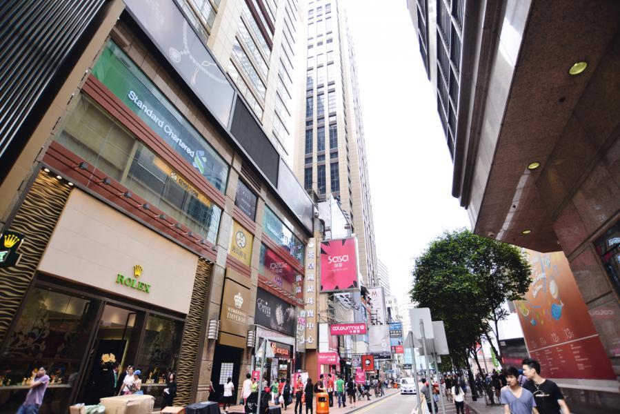 高力估計,主要街道的舖租下半年仍有下跌壓力。