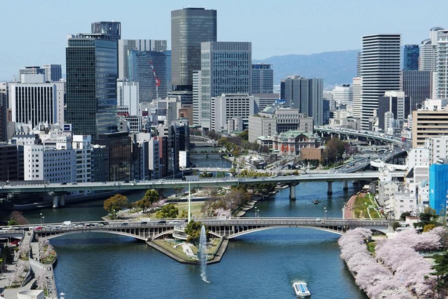 大阪樓價持續向好,主要得力於當地的旅遊業。