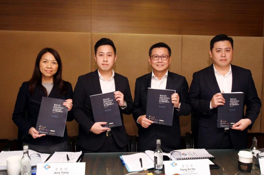 主席曾家葉(右二)透露,手頭10個項目均是來自其五大客戶,當中最長的合作關係超過15年。