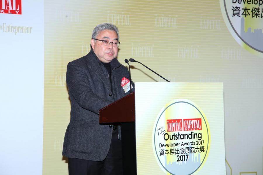 香港建築師學會會長陳沐文建築師擔任主禮嘉賓及致歡迎辭為「資本傑出發展商大獎2017」揭開序幕。