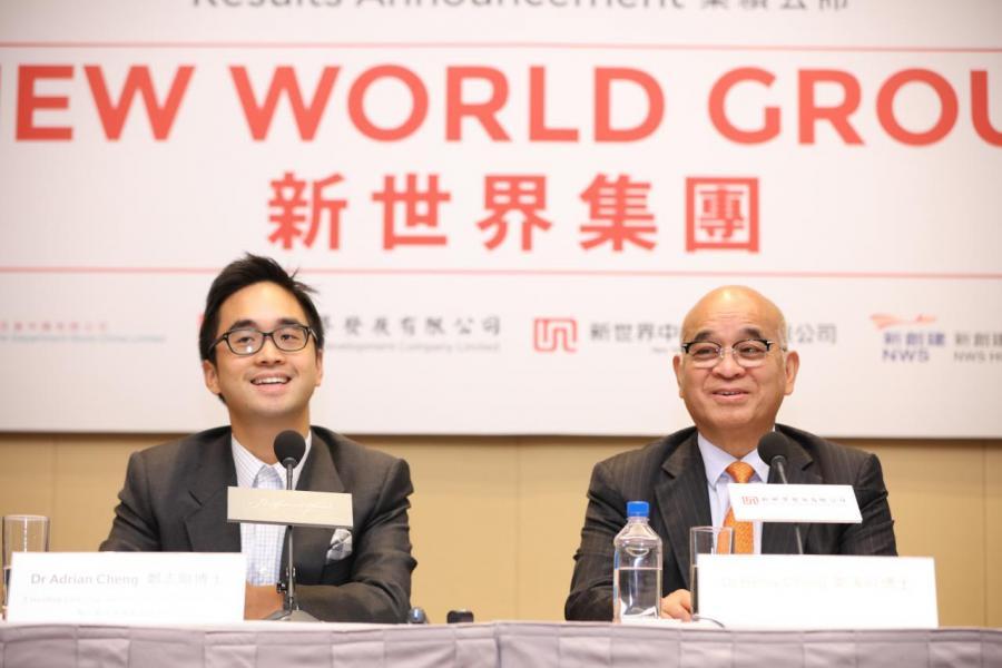 鄭家純(右)及其子鄭志剛(左)的私人投資旗艦周大福企業一向甚為進取。